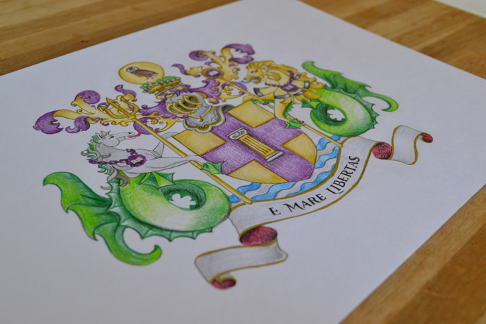 Personalised Coat Of Arms - Principality Of Sealand Coat Of Arms