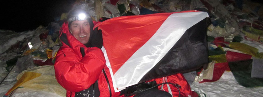 British climber Kenton Cool reaches peak of Everest for a record-breaking ELEVENTH time