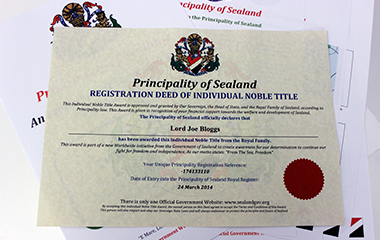lord certificate