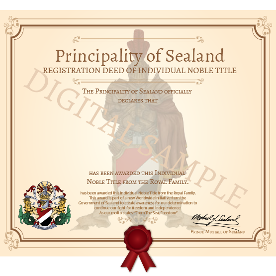 knighthood title deed