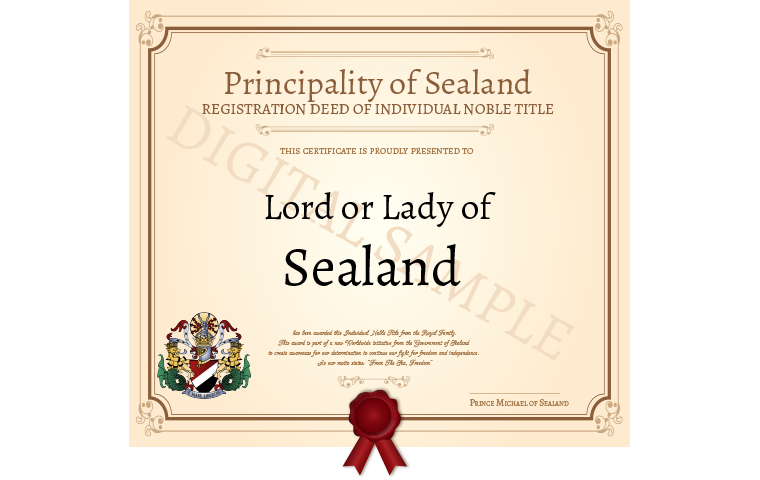 become a lord or lady