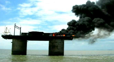 sealand on fire
